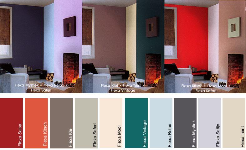 Labrie verfspeciaalzaak - Kleurkaart kleur interieur verf ...